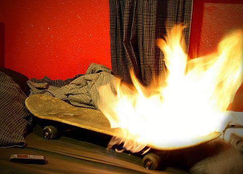 Skateboard Fire 2