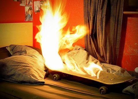 Skateboard Fire 1